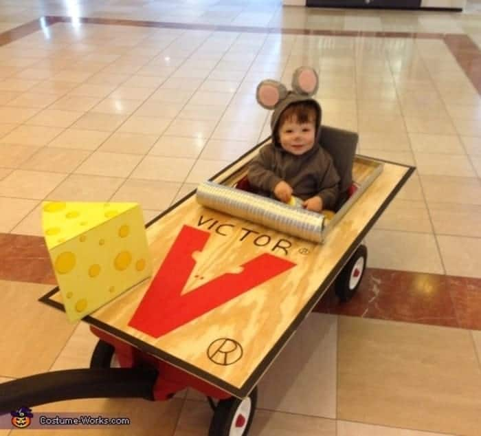 DIY Mouse Trap Costume for baby