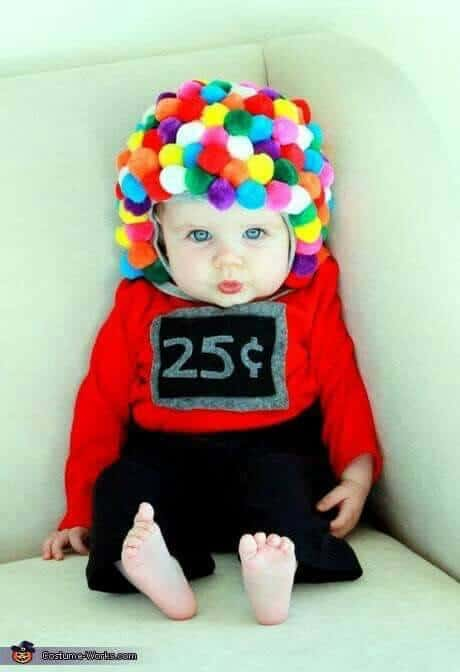 Bubblegum machine costume for baby