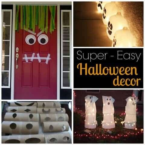 Looking for some EASY Halloween Decor? These super easy DIY Halloween decorations are were so doable that I even did them! You don't have to be Martha Stewart to pull these off!