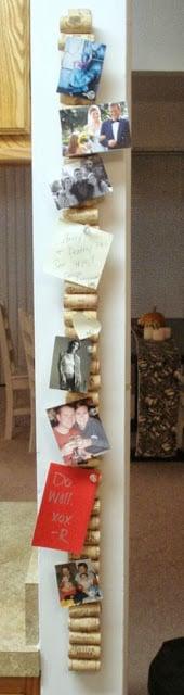 wine cork display