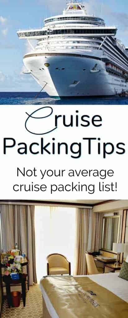Cruise Packing Tips - Not your average cruise packing list