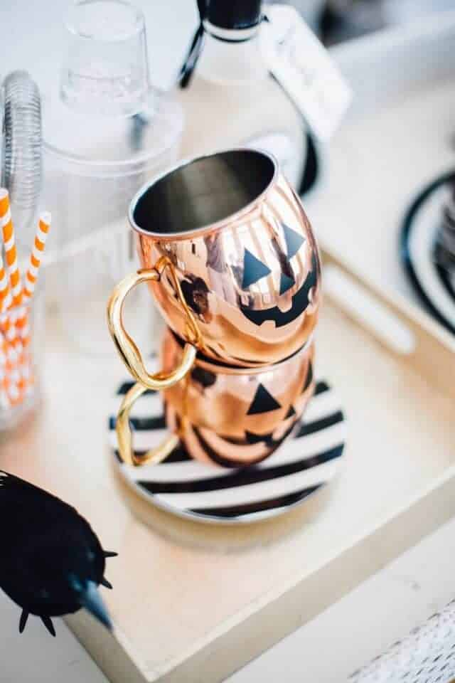 DIY Halloween Copper Mugs