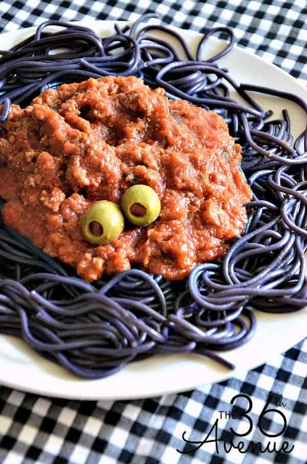 Halloween Spaghetti Recipe from the36thavenue