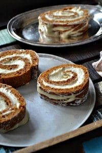 Maple Brown Sugar Pumpkin Roll
