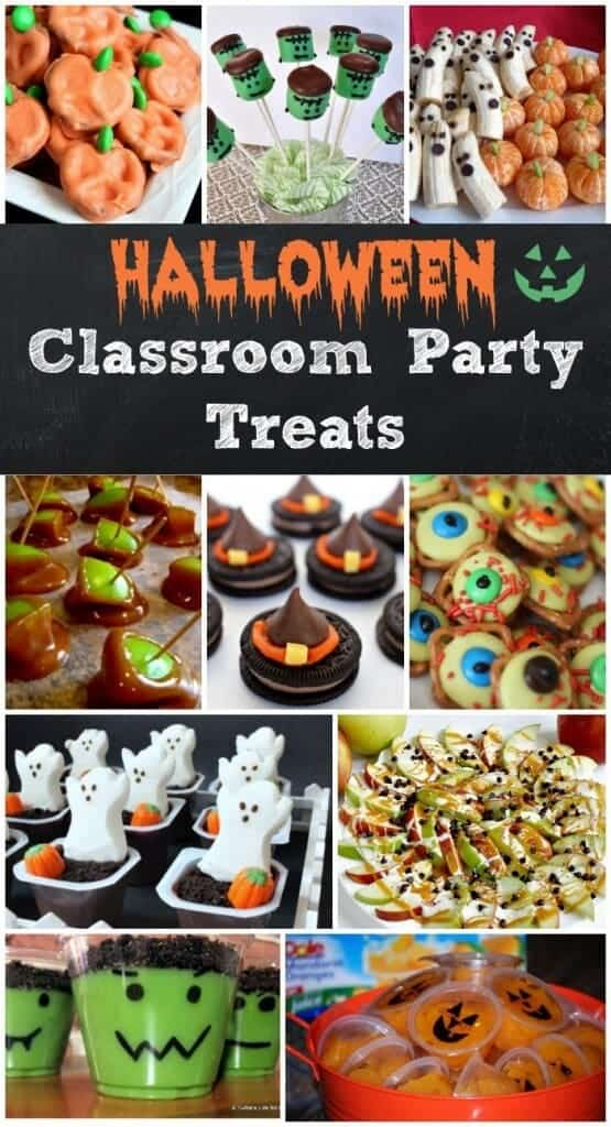 EASY Halloween Party Classroom Treats! That's right, we are doing the work for you. Here are some adorable and easy Halloween treats to make for your child's classroom party!