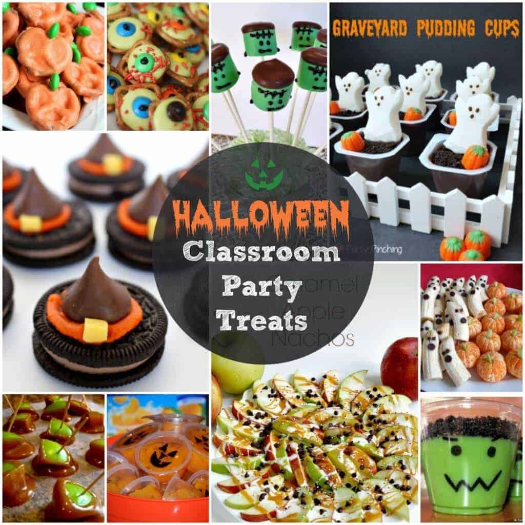 halloween classroom party treats square