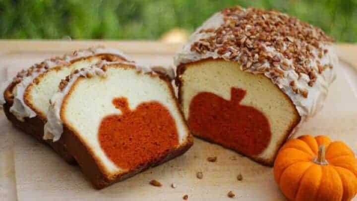 peek a boo pumpkin cake