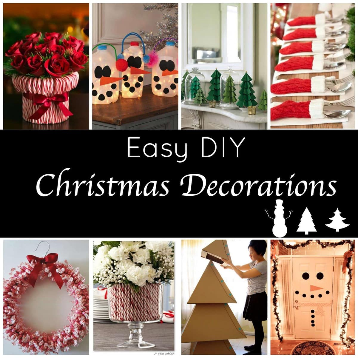 Cute and easy diy holiday decorations for a festive home for Simple christmas home decorations