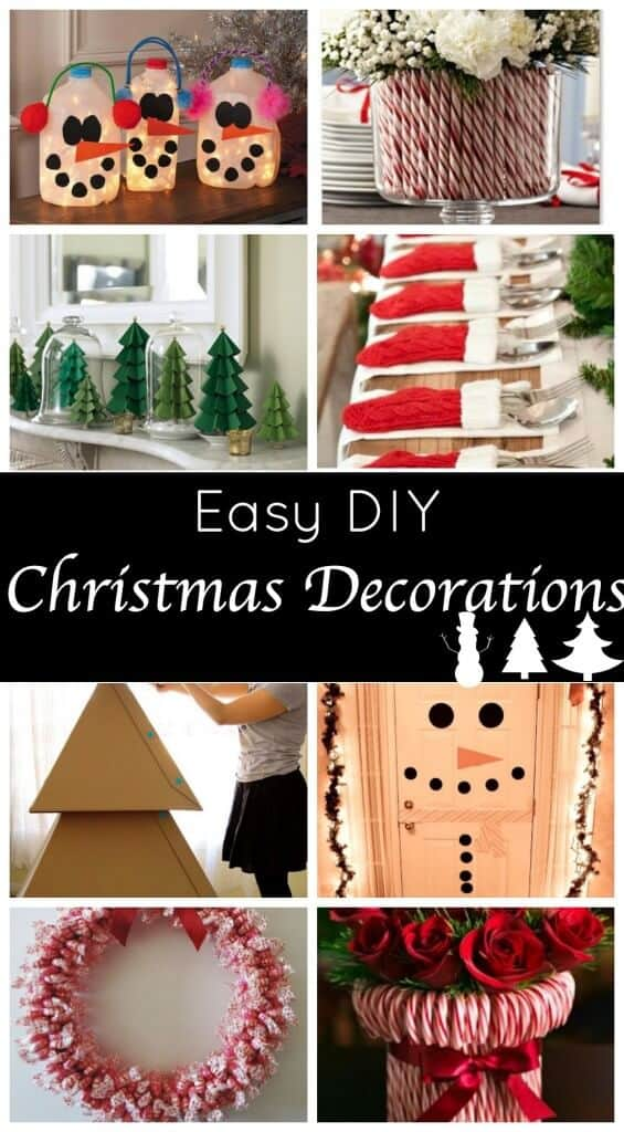 Cute and easy diy holiday decorations for a festive home for Simple christmas decorations to make