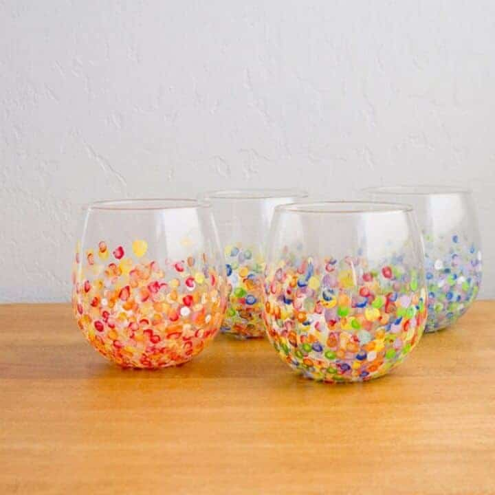 hand dotted tumblers