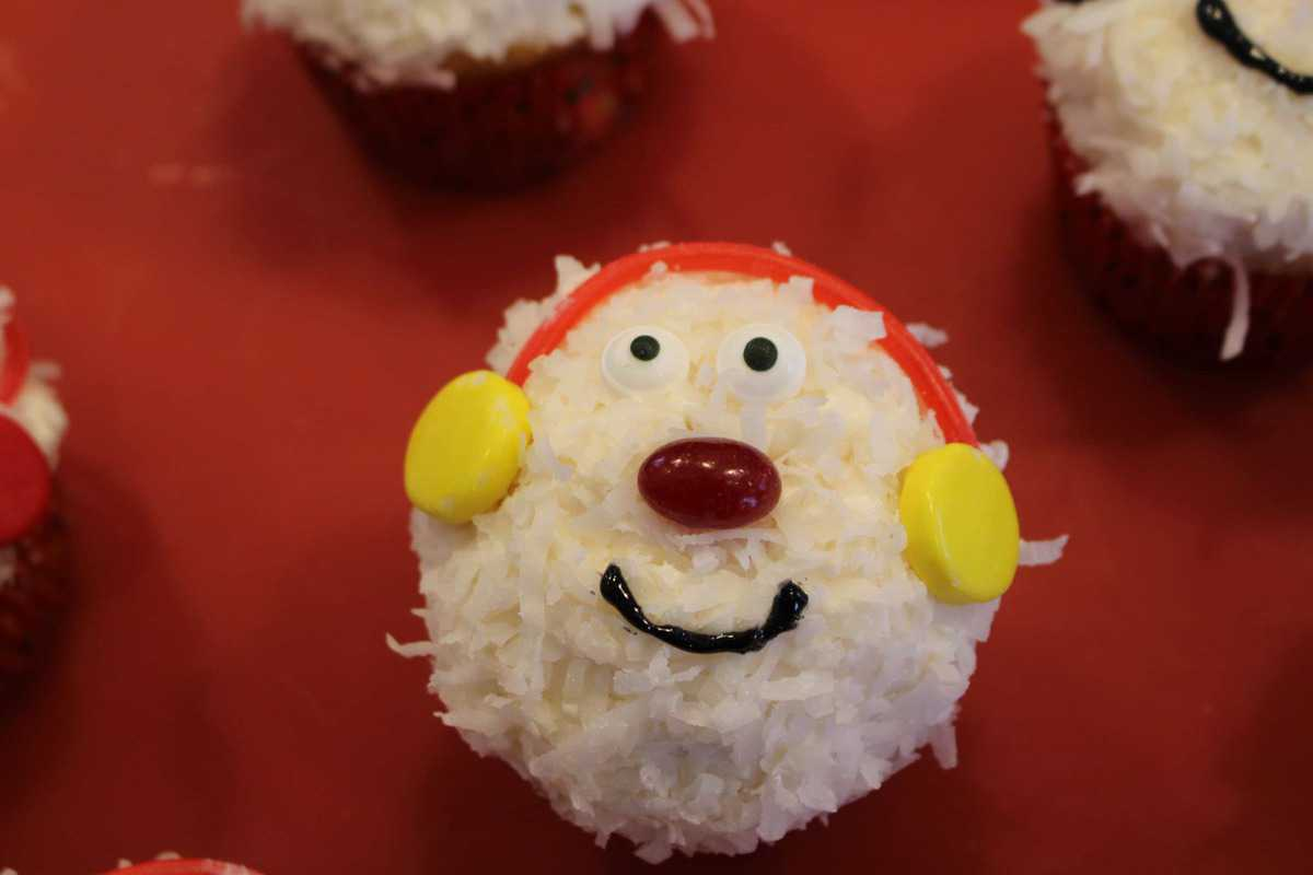 snowman-cupcake
