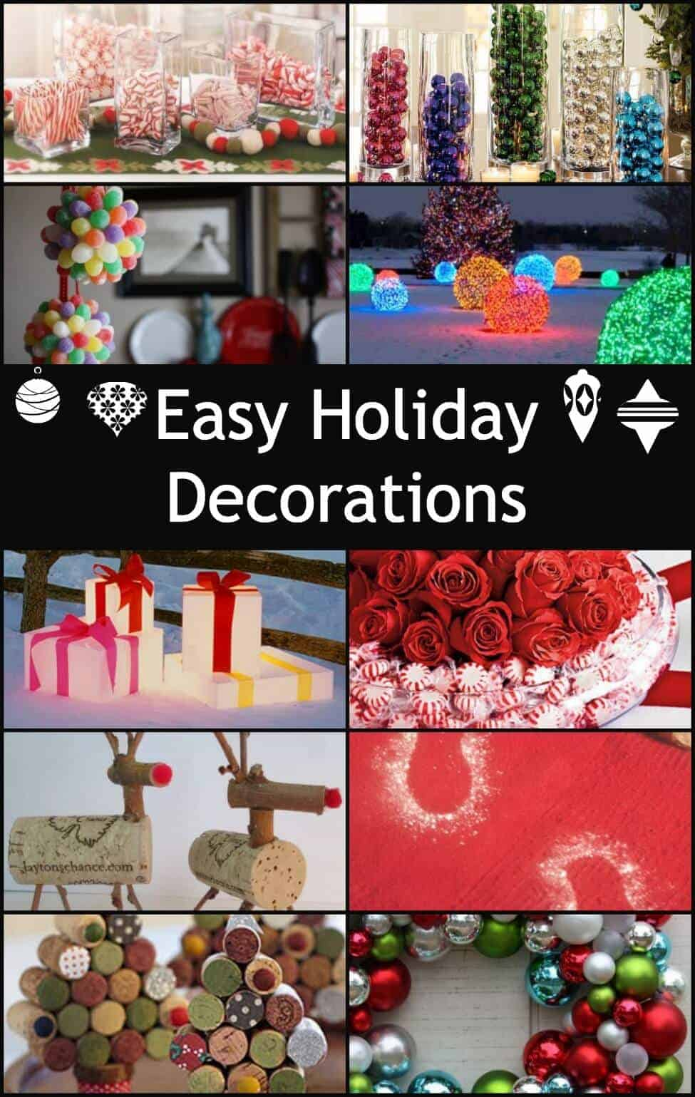 even more easy holiday decorations