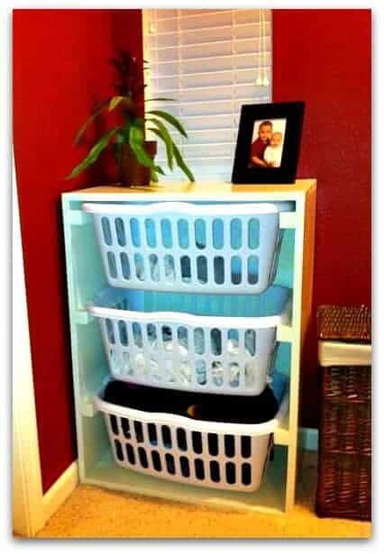 DIY laundry storage