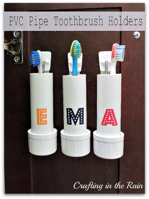 PVC toothbrush holder
