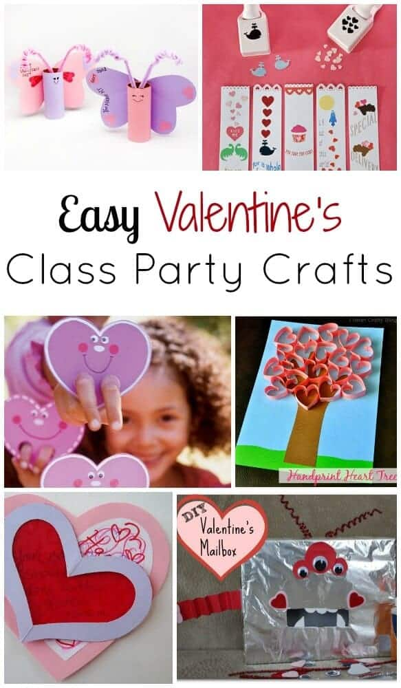 Easy Valentines Day class party crafts