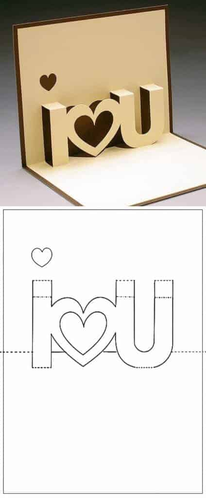 I-love-u-card-template