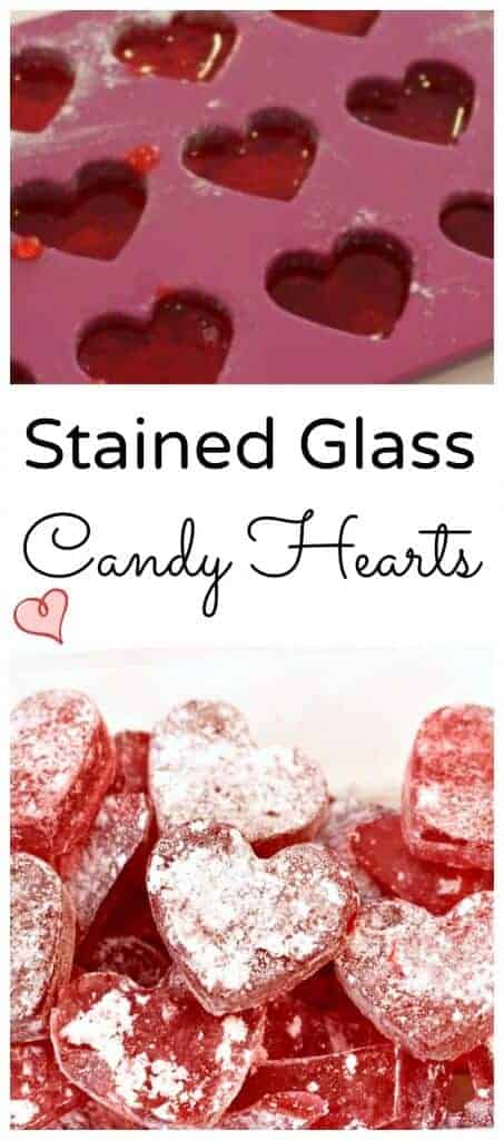 easy to make stained glass candy hearts