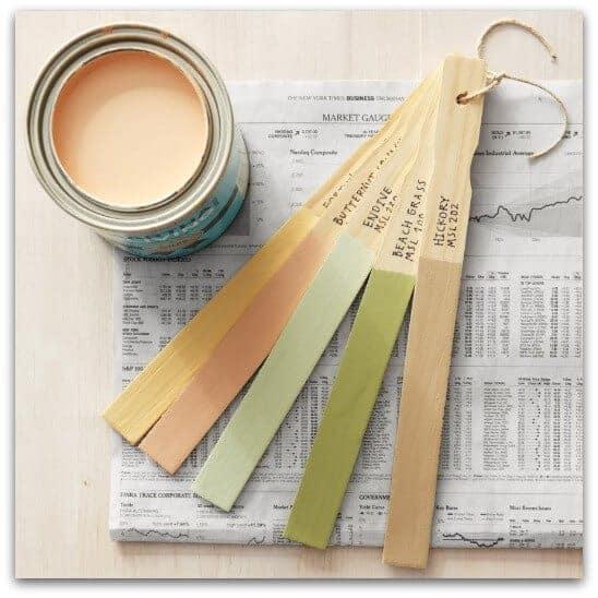 paint swatch sticks