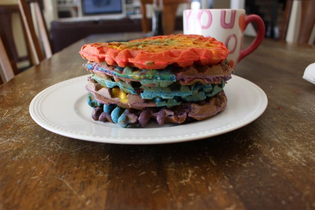 tie dye waffles