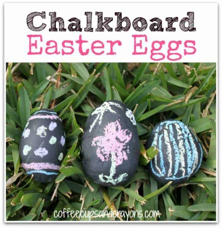 Chalkboard Easter Eggs - SO CUTE