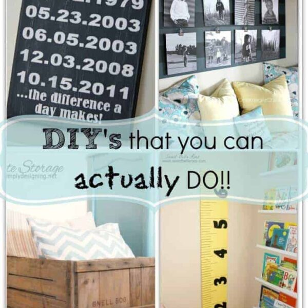 DIY projects you can actually do