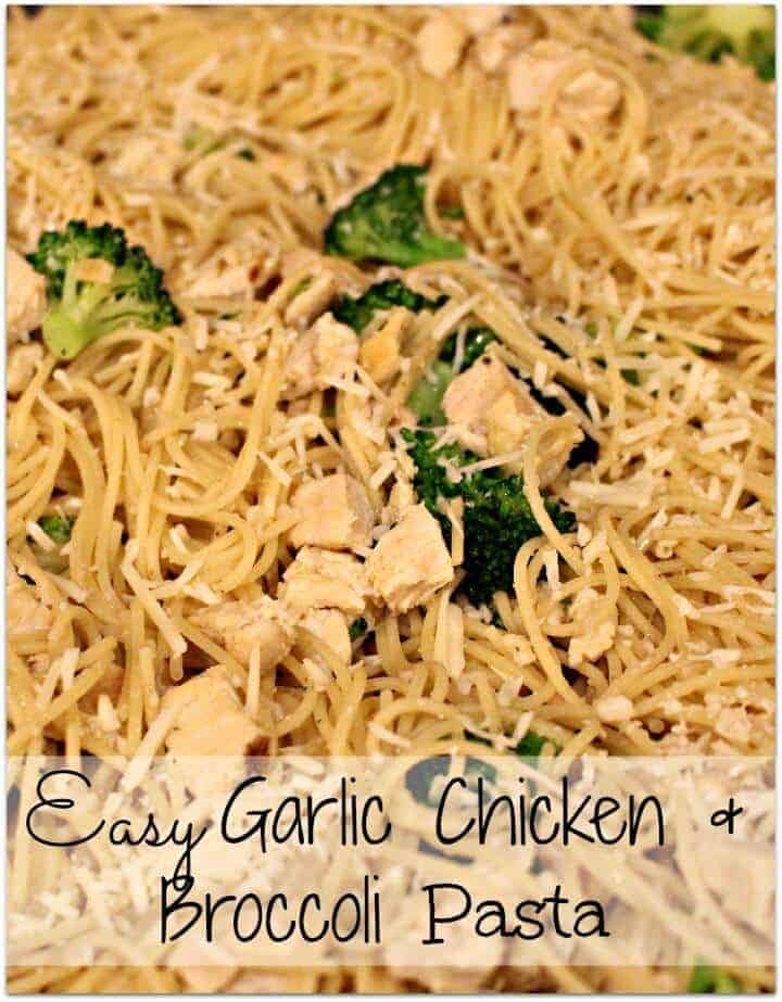 Easy Garlic Chicken and Broccoli Pasta - Princess Pinky Girl