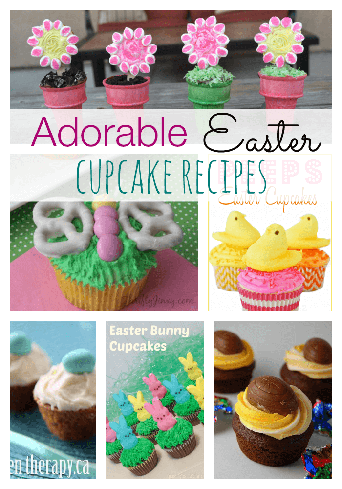 eastercupcakescollage