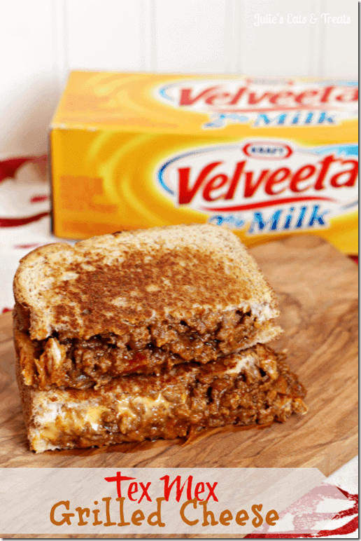 Velveeta Tex mex Grilled Cheese Sandwich