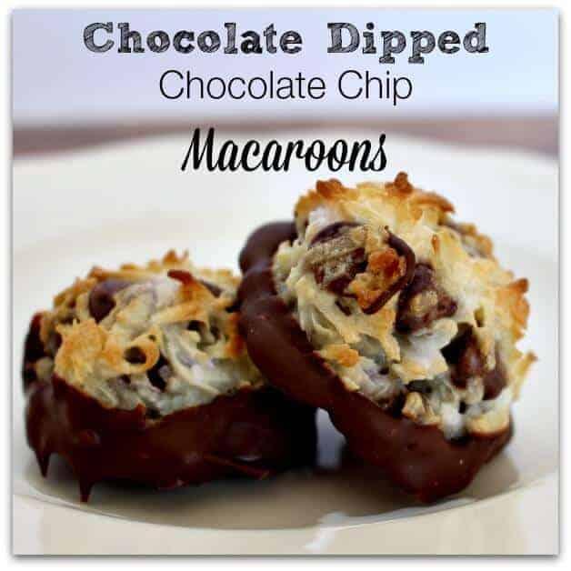 Chocolate dipped chocolate chip macaroon recipe
