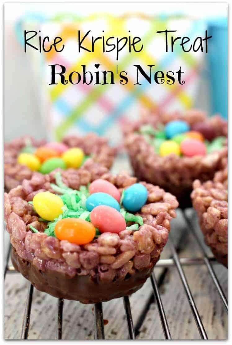 rice krispie treat robins nest