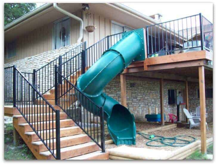 2nd floor deck slide