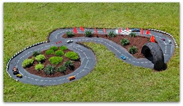 DIY backyard race track