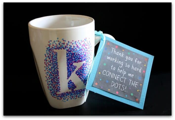 Easy Dotted Sharpie Mug