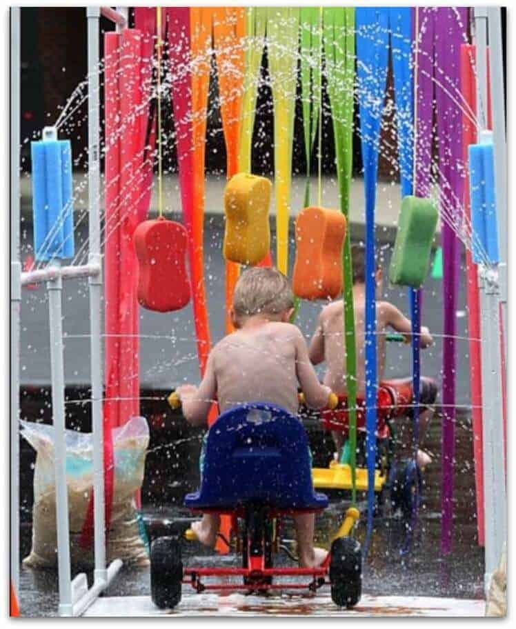 PVC Backyard Bike Carwash