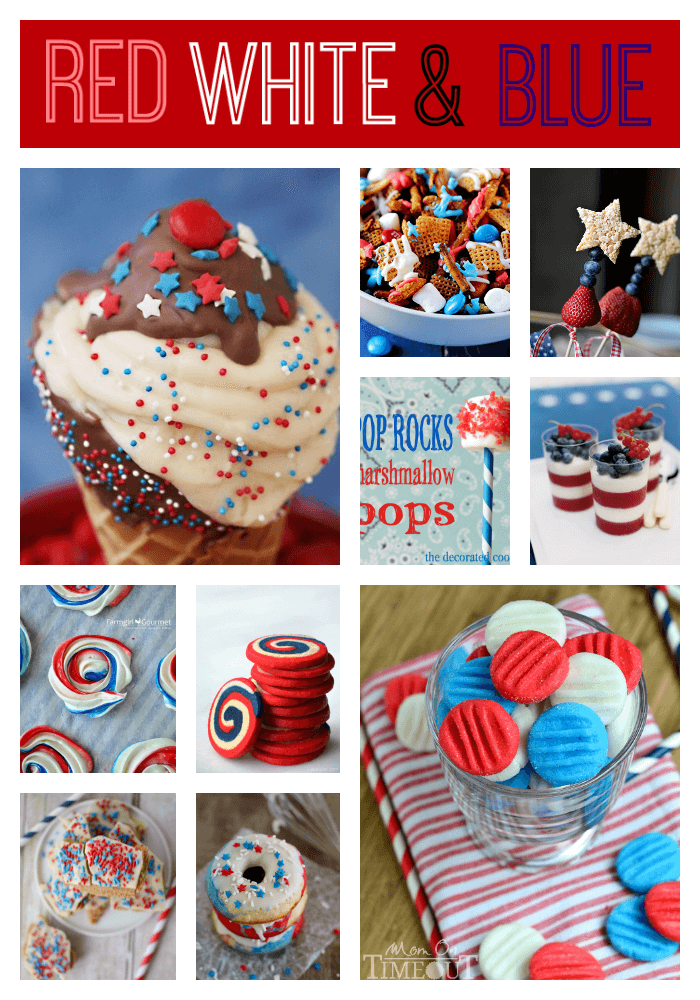 Patriotic Red White and Blue Recipes