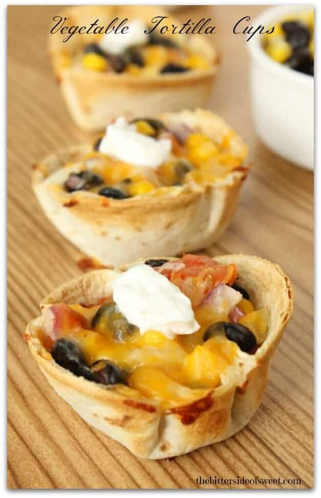 Vegetable Tortilla Cups