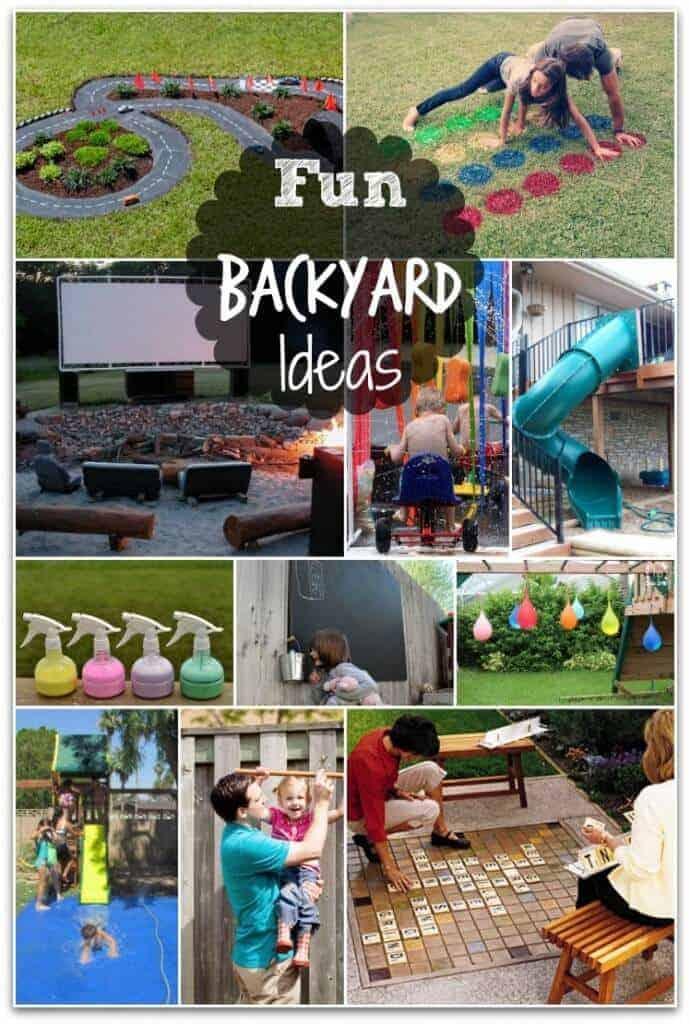 backyard collage