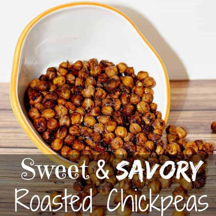 sweet and spicy chickpeas featured