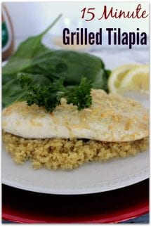 15 minute grilled tilapia