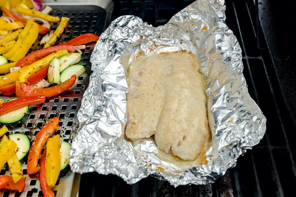 place tilapia on the grill