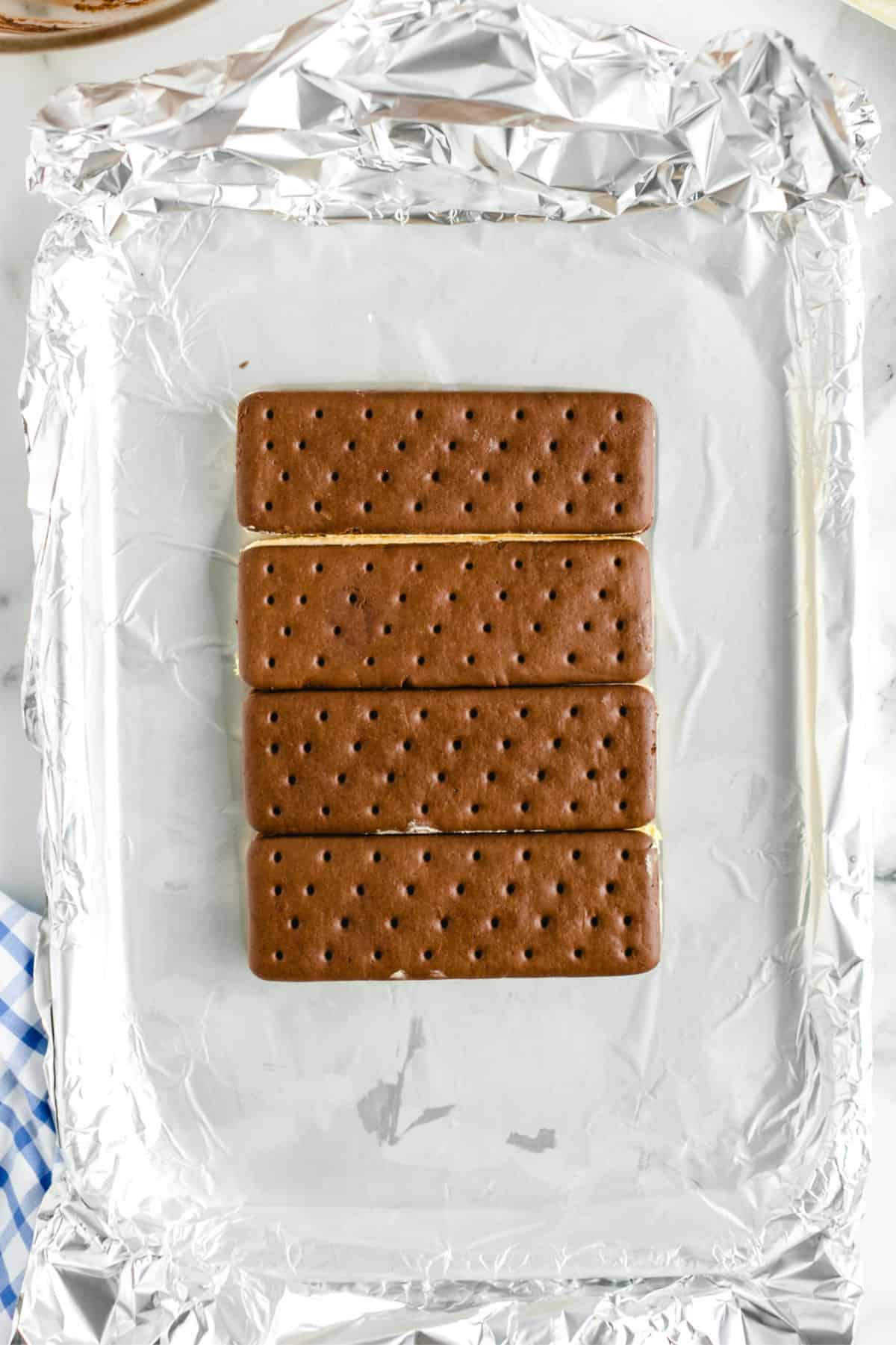 Ice Cream Cake in process 1