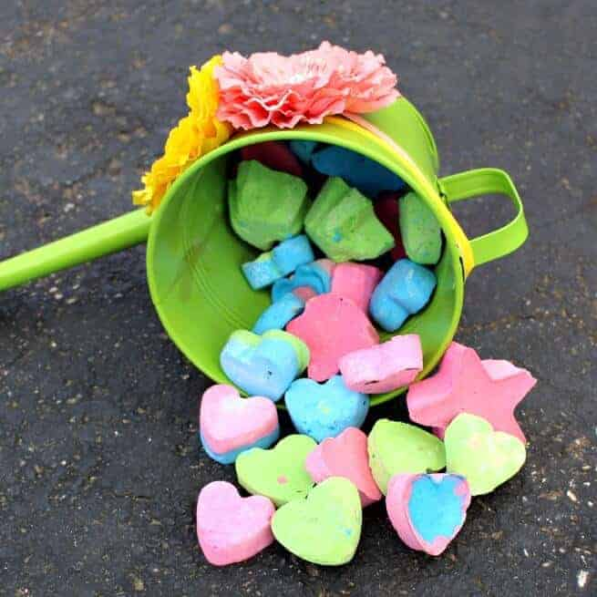 DIY Sidewalk Chalk – only three ingredients needed!