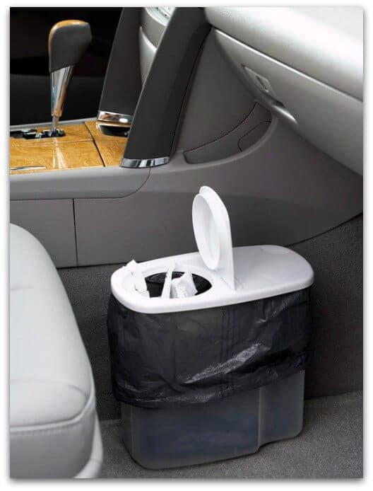 plastic cereal dispenser for trash in car