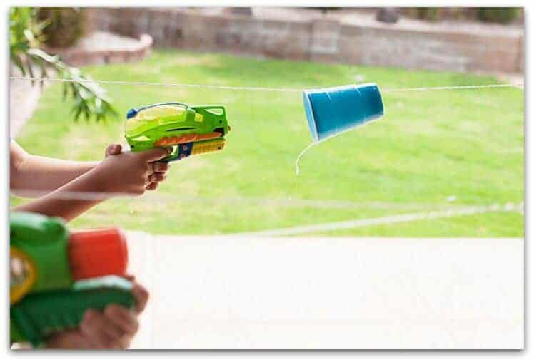 water gun cup races