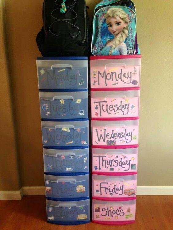 Organize kids clothing and make morning SO much easier!
