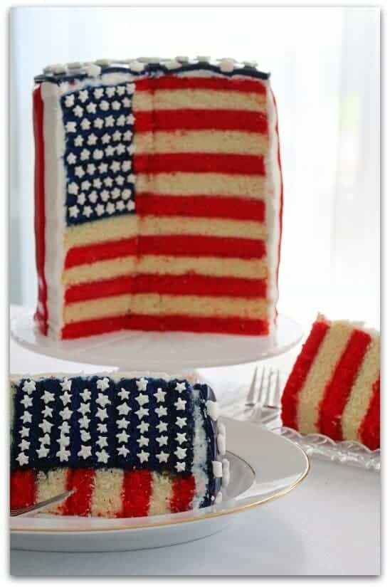 Flag Stars and Stripes Cake