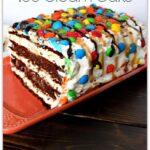 M&M Ice Cream Sandwich Cake