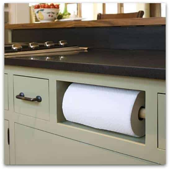 Paper towel holder in drawer