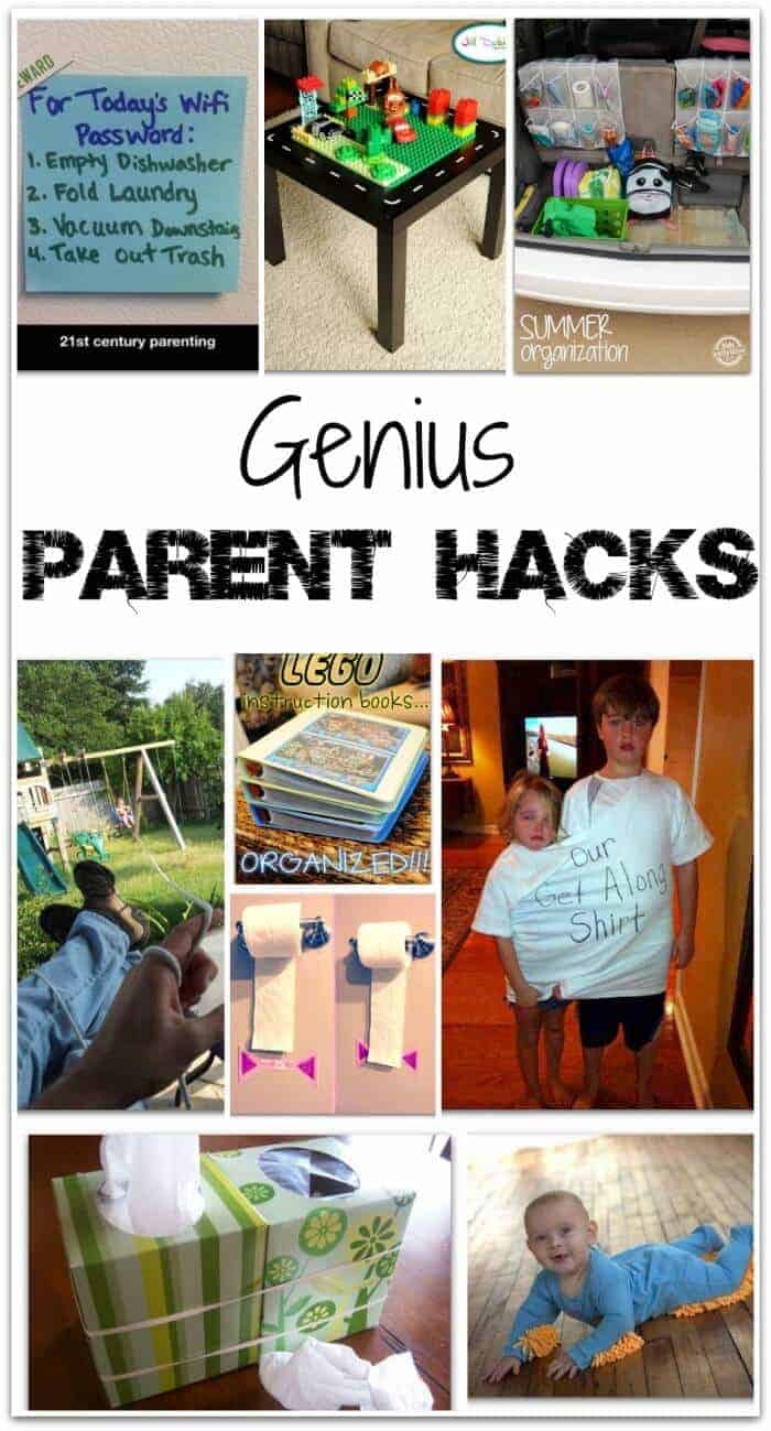 "Hacks - they are a truly beautiful thing. They are those small tweaks that can make your life a whole lot easier. They are those things you see on Pinterest that make you say - ""Why didn't I ever think of that?"" Well, now we are taking Life Hacks to the next level with these genius Parenting Hacks!"