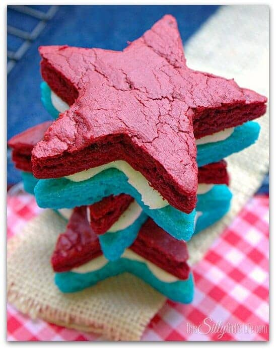 Patriotic Brownie Sandwiches